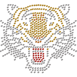 Bold and Powerful Tiger Rhinestone Iron-on Heat Transfer for Mask