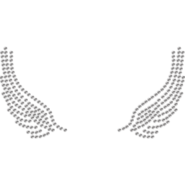 Wings of an Angle Rhinestone Hotfix Transfer for Mask