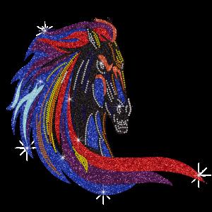 Bling Glitter Elegant Horse Decorate With Rhinestone Transfers