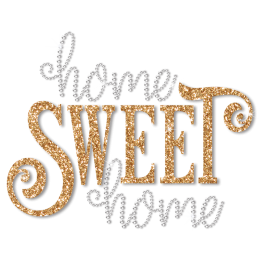 Custom Rhinestone Home Glitter Sweet Heat Press Transfer