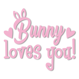 Custom Cute Pink Bunny Loves You Heat Transfer