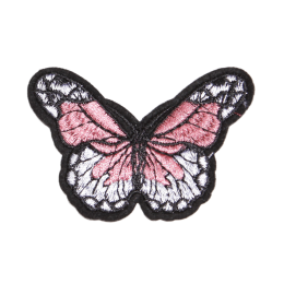 Custom Pink Butterfly Embroidery Patches