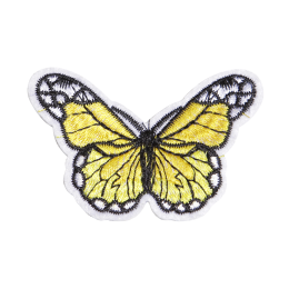 Lifelike Customized Yellow Butterfly Embroidery Patch