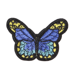 Customized Butterfly with Blue Wings Sewed on Patch