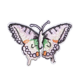 Embroidered Pink Butterfly Sew on Patch