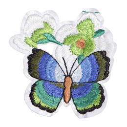 Butterfly in Flowers Customized Embroidery Patch
