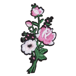 Lovely Pink Flowers Patch for Girl's Clothes