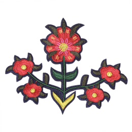 Symmetrical Flower Pattern Embroidery Patch