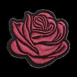 Rose I Love You Flower Motif Patch