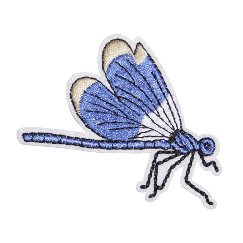 Custom Blue Dragonfly Embroidery Patch Cstown