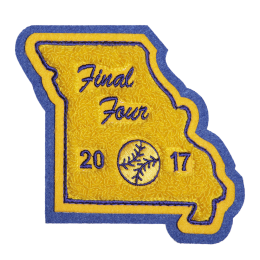 Baseball Badge 2017 Stock Chenille Patch