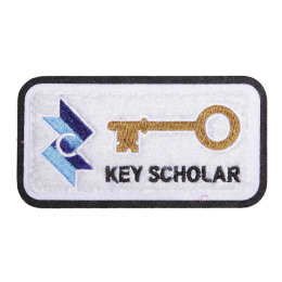 Key Scholar Square Stock Chenille Patch