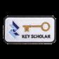 Key Scholar Square Stock Chenille Patch