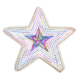 Lively Sequin Star Patch for Girls Shirt
