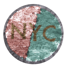 Fancy Reversible NY Sequin Patch