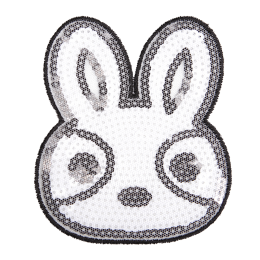 Cartoon Rabbit Sequin Patch for Shirts and Caps