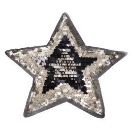 Fancy Golden Super Star Sequin Patch for Clothes