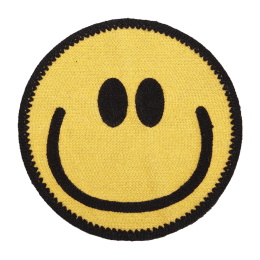 Big Yellow Smile Face Knitting Applique