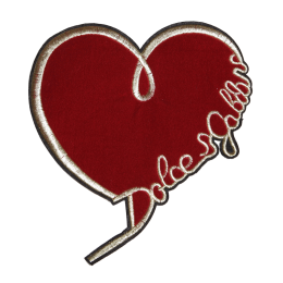 Red Felt Heart for You Heart Themed Patch