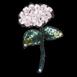 Custom 3D Sequin Pink Flower Applique