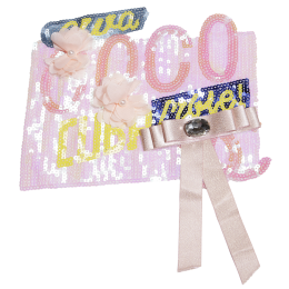 Romance of a Teenage Girl Pink Coco Sequin Patch