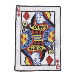 Playing Card Queen Fancy Applique