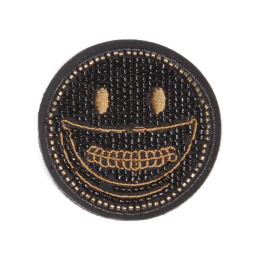 Bead Smile Face Special Stock Patch for Shirts and Hats