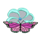 Butterfly Floral Iron On Embroidery Services Near Me