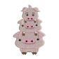 Pig Embroidery Patches For Clothes