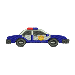 Police Car Embroidery Stitch Vest Patches