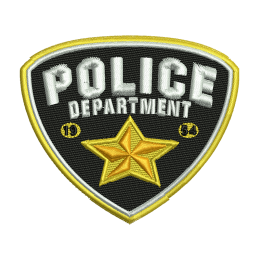 Police Badge Embroidery On Sweatshirts Patches