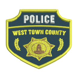 Police County Badge Embroidery Sew On Patches