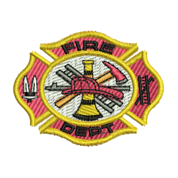 Fire Dept Hand Embroidery Patches