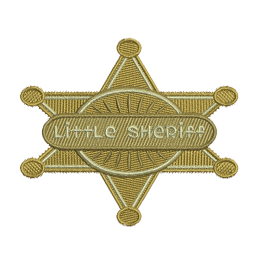 Little Sheriff Embroid Iron On Patches