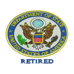 Department Of State Canvas Embroidery Back Patch