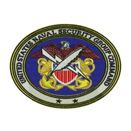 Naval Security Group Military Jean Jacket Embroidery Fabric Patch