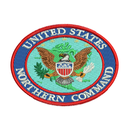 U.s. Northern Command Embroidery Logo Patches For Jeans