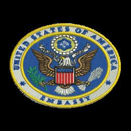 U.s. Embassy Seal Embroidery On Sweatshirts