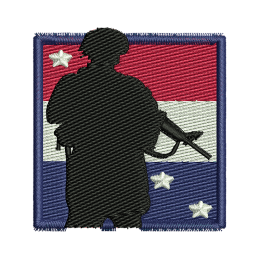 American Soldier Jean Jacket Embroidery Heat Patches