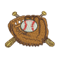 Glove And Baseball Embroideryonline Custom Patches
