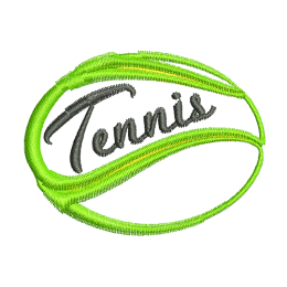 Tennis Ball Embroidery Sew On Patches