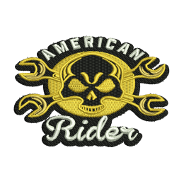 American Rider Skull Embroidery Shops Near Me Jean Patches