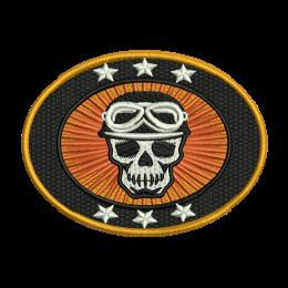 Biker Skull embroideryonline custom patches