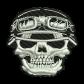 Biker Skull Denim Jacket Embroidery