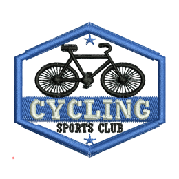Cycling Sports Club Hand Embroidery Iron On Patches