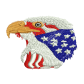 Eagle Flag Jean Jacket Embroidery Patches