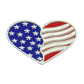 American Flag Heart Embroidery Services Near Me Jean Patches
