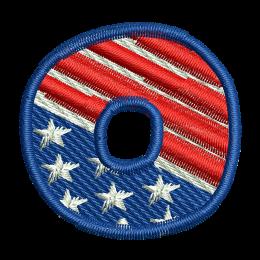 Star Spangled Number 0 Denim Jacket Embroidery