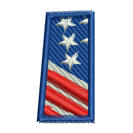 Star Spangled Number 1 Embroidery On Shirts Heat Patches