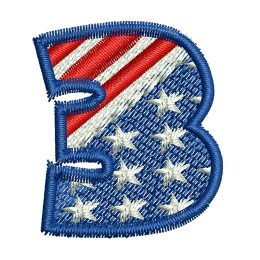 Star Spangled Number 3 Embroid Patches For Clothes